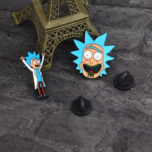 Broches personagens - Rick and Morty