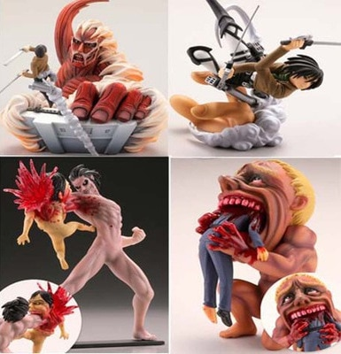 Combo Figures Attack on Titan